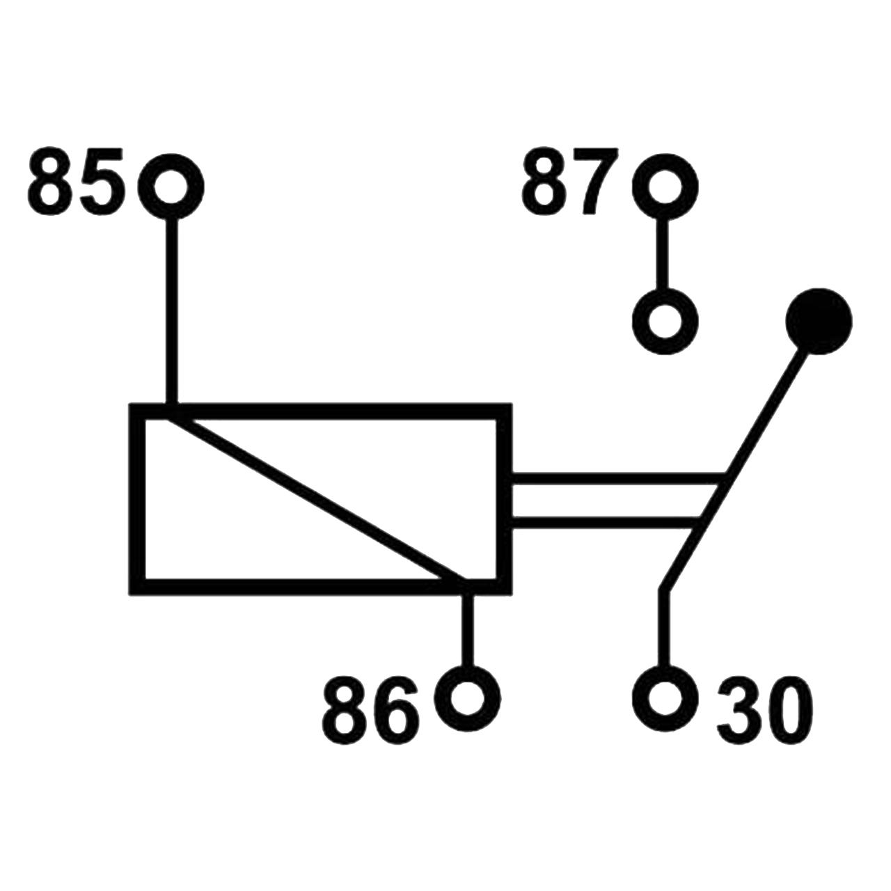 mini relais open 12v 40a 4