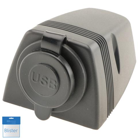 USB contactdoos opbouw 12/24V 5V DC 2.1A max (1x)