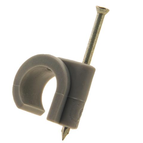 Spijkerclip 11-15mm grijs (100x)