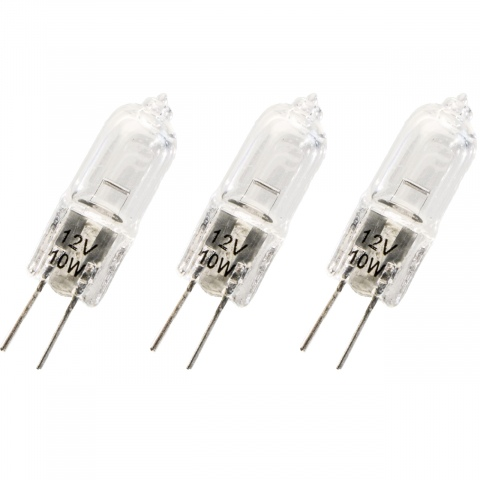 Halogeen 2pins G4 12V 10W warm wit (3x)
