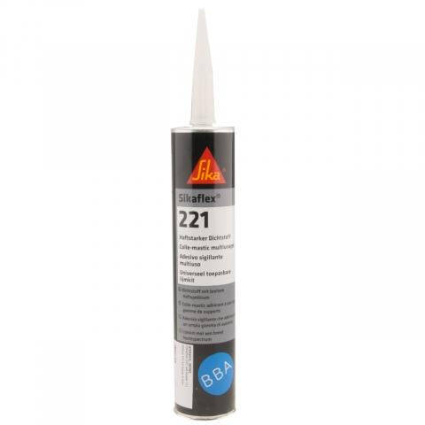 Sikaflex 221 PU kit wit koker 300ml (12x)