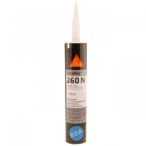 Sikaflex 260N PU lijm zwart koker 300ml (12x)